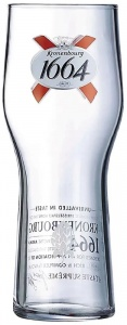 Kronenbourg 1664 Branded Pint Glass For Sale UK - CE 20oz / 570ml - Box of 24